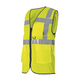 Gilet de travail multipoches Safari Air jaune