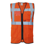 Gilet de travail multipoches Safari Air orange
