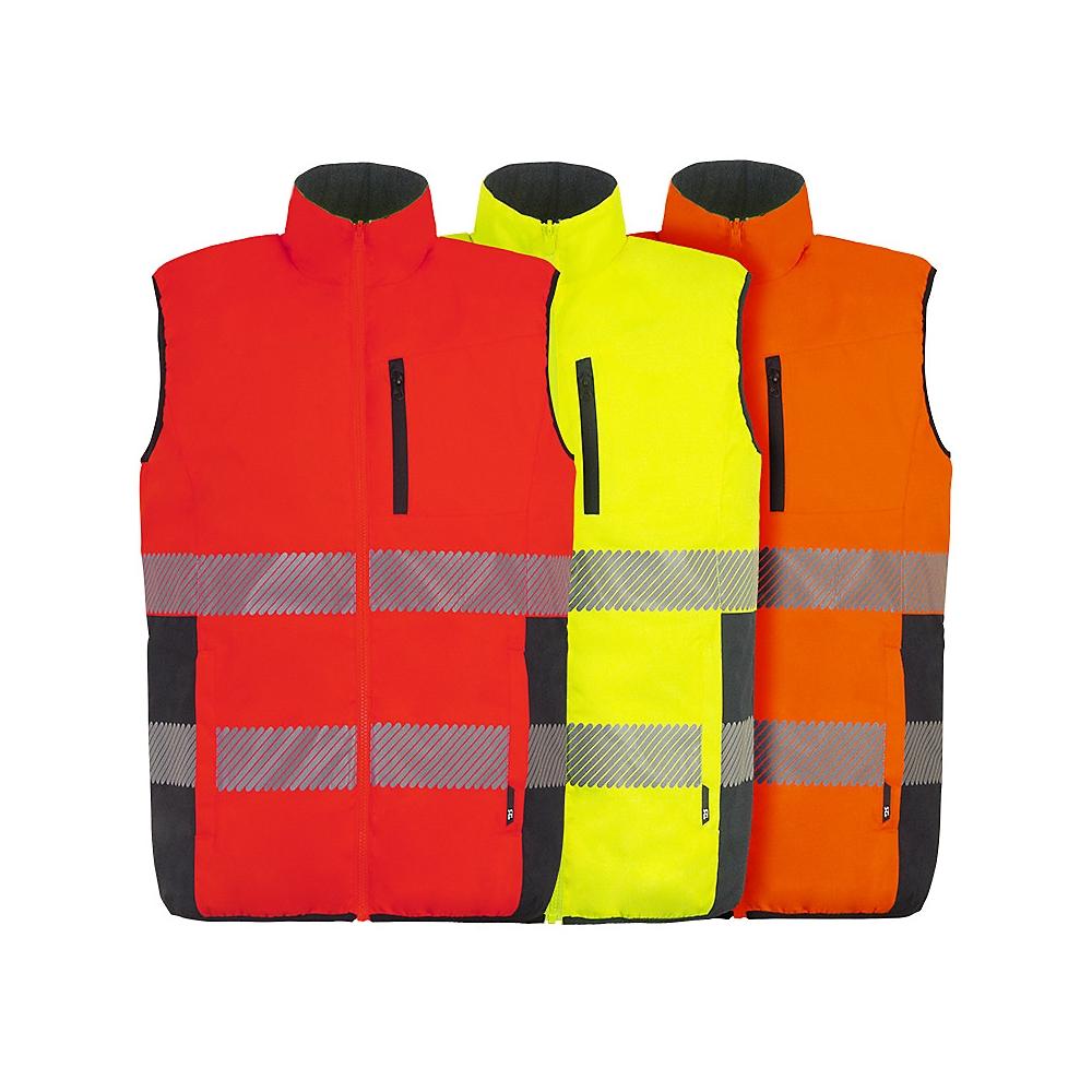 Gilet de travail sans manches NEPAL - Orange fluo/marine - Taille 3XL T2S