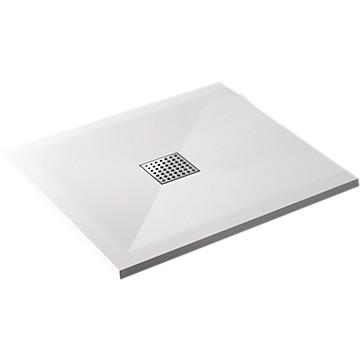 Receveur Arturo extra-plat carré à poser ou à encastrer - Blanc Tda