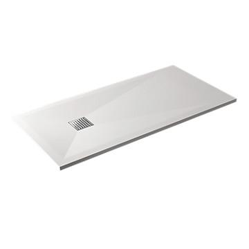 Receveur Arturo extra-plat rectangulaire à poser ou à encastrer - Blanc Tda