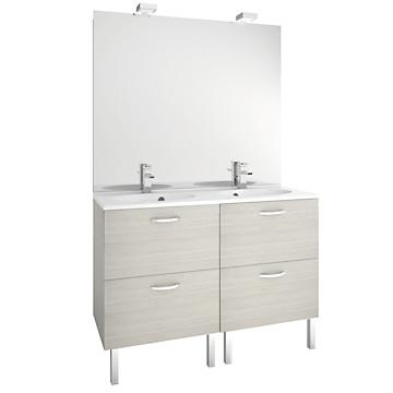 Meuble de salle de bain de 120 cm First à tiroirs MB Expert