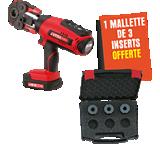 Presse à sertir sur batteries VIPER M21+ offre avec malette inserts