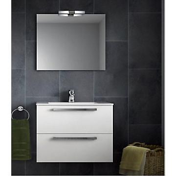 Ensemble meuble Ulysse blanc avec mitigeur lavabo Olyos Offert Porcher