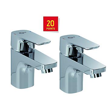 Lot de 2 mitigeurs lavabo Kheops Idéal Standard