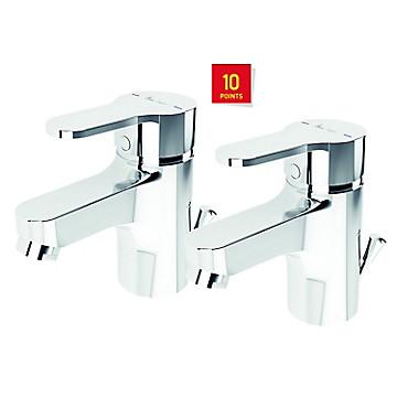 Lot de 2 mitigeurs lavabo Olyos Idéal Standard