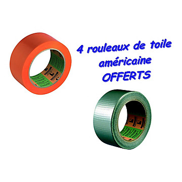 Adhésif orange Barnier 6095 - Lot de 36 rouleaux Barnier