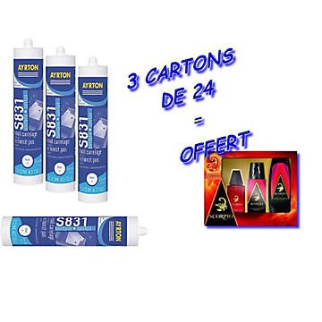 Mastic silicone acétique blanc Ayrton + un coffret Scorpio offert Ayrton