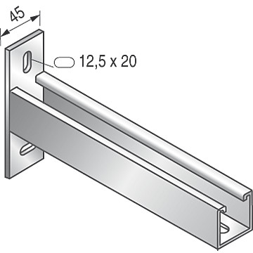 Console T STRUT 41 x 41 Niedax France