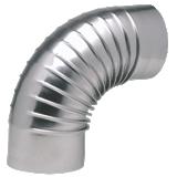 Coude aluminié plissé 90°