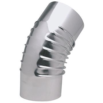 Coude à 45° en aluminié plissé Ten