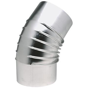 Coude à 45° en aluminium plissé Ten