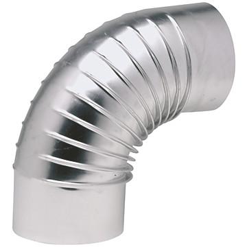 Coude à 90° en aluminium plissé Ten