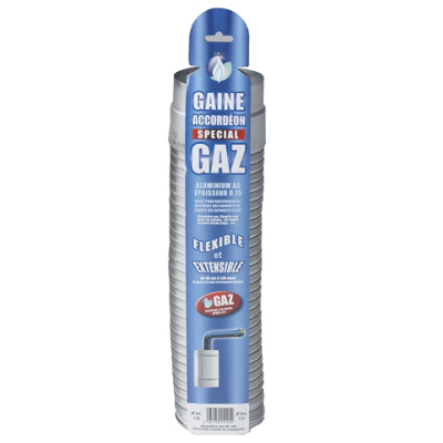 Gaine accordéon gaz extensible aluminium Ten