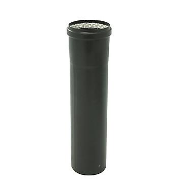 Tuyau rigide émaillé noir mat Ø 80 mm Ten