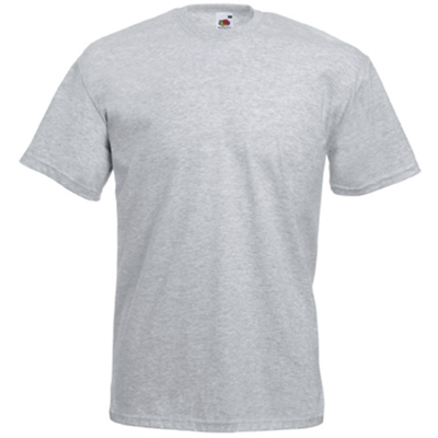 Tee-shirt de travail value-weight heather grey SC221A Fruit Of The Loom