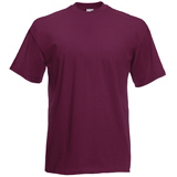Tee-shirt de travail value-weight bordeaux SC221C