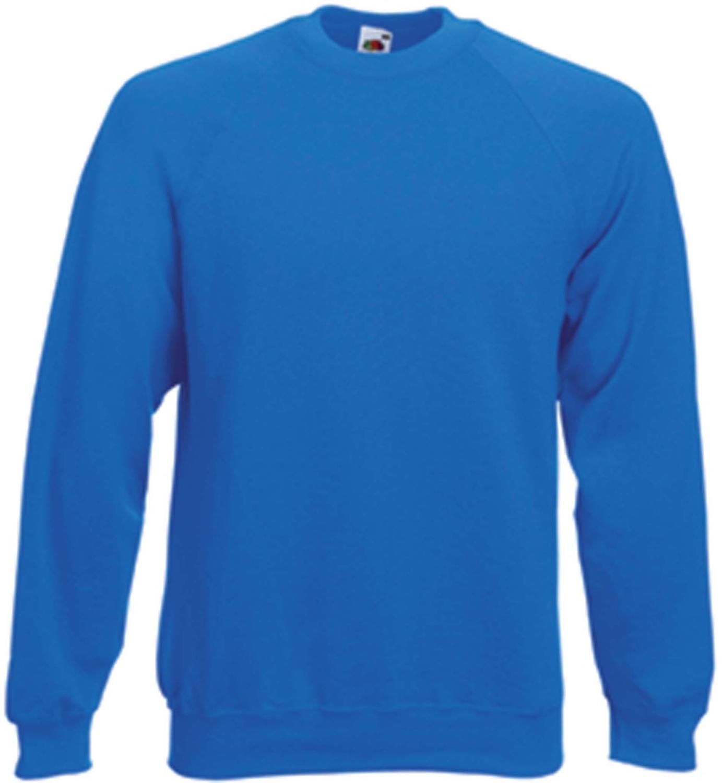 Sweat-shirt manche raglan bleu royal Fruit Of The Loom