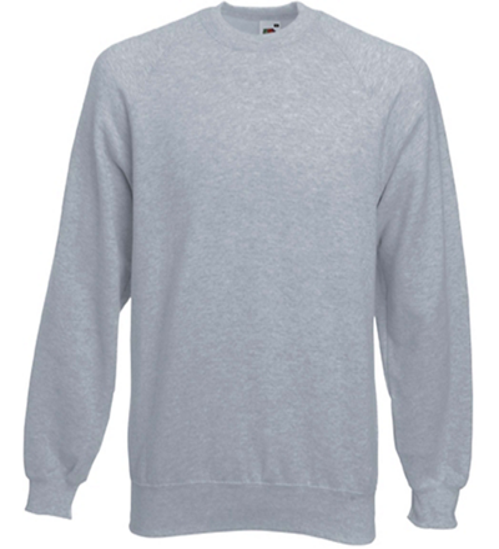 Sweat shirt manche raglan SC4 gris Fruit Of The Loom
