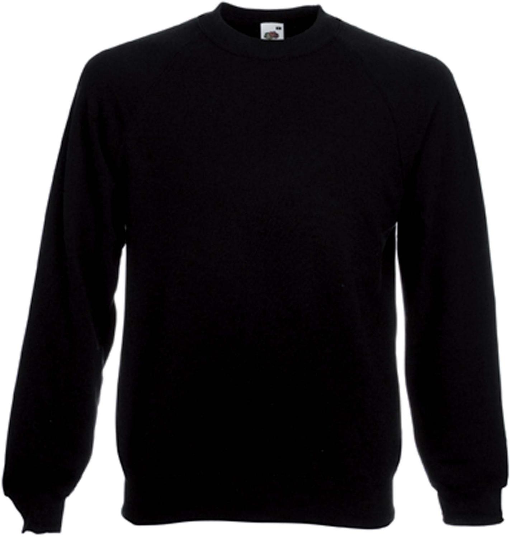 Sweat shirt manche raglan SC4 noir Fruit Of The Loom