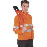 Pull de travail haute visibilité col camionneur orange