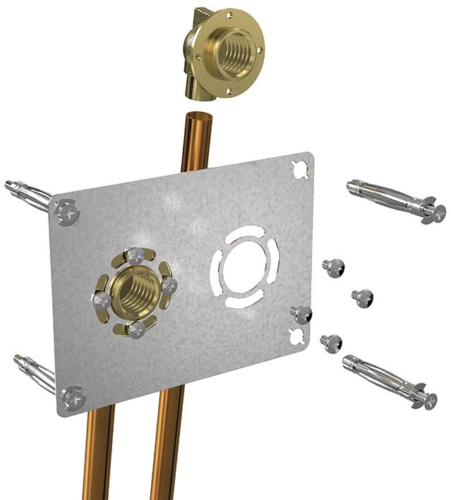 Robifix entraxe 50 mm à souder pour tube cuivre Watts