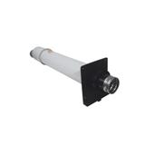 Terminal horizontal 80/125 PVC/Inox blanc 1000mm