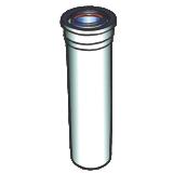 Conduit condensation 500 mm Ø 60/100 en PPTL et PVC.