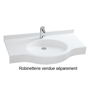 Plan de toilette en varicor 80 PMR - Simple vasque Varicor