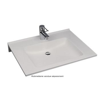 Plan de toilette en varicor Agilo - Simple vasque Varicor