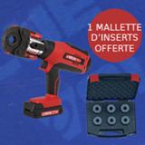Lot sertisseuse 18 V Viper® M21+ (avec pince mère) + une mallette d'inserts offerte
