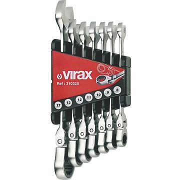 Jeu de 7 clés à cliquet VIRAX