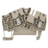 Blocs de jonction compact série Z beige, à ressort