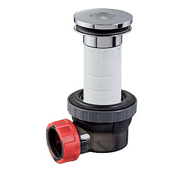 Combiné bonde et siphon lavabo Nano 6.7 avec bonde Ø 100 mm Wirquin