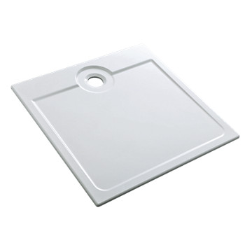 Receveur Latitude ultra-plat carré à encastrer Allia