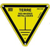 Affiche aluminium 100mm symbole Terre Masse