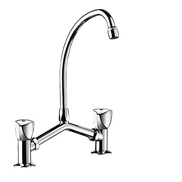 Mélangeur lavabo 2 trous entraxe variable 100 à 240 mm Delabie