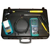 Analyseur de combustion K455 KGAZ + sonde imprimante + kit pression gaz + sonde température + sonde détection fuite gaz + malette