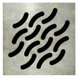 Grille carrée design Wave