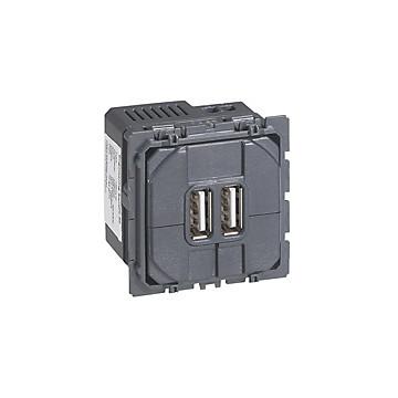 Céliane - Mécanisme - Prise chargeur USB double Legrand