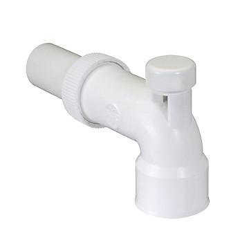 Coude réglable lavabo avec anti-vide Ø 40 PVC blanc Nicoll