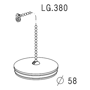 Bouchon chaînette  pour évier Ø 58 mm Nicoll