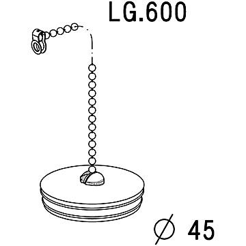 Bouchon chaînette pour baignoire Ø 45 mm Nicoll