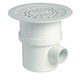 Siphon pour revêtement sol plastique grille PVC