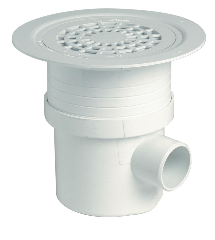 Siphon pour revêtement sol plastique grille PVC Nicoll