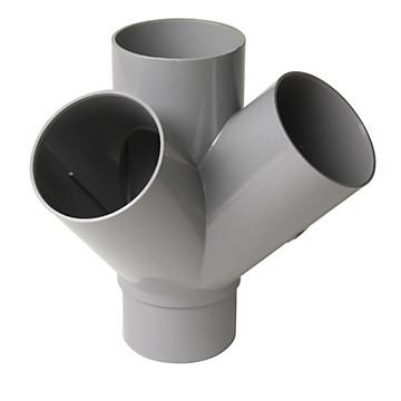 Embranchement double d'équerre MF PVC à 45° Nicoll