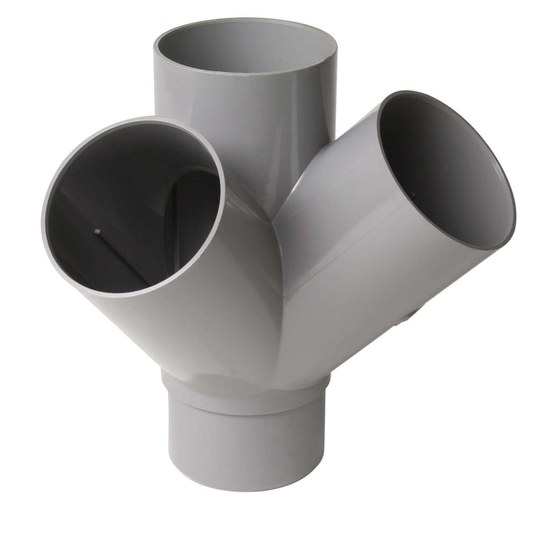 Embranchement  PVC double d'équerre MF à 45° Nicoll