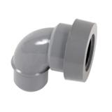 COUDE PVC A JOINT MF PVC A 87°30 POUR SORTIE D'APPAREIL SANITAIRE