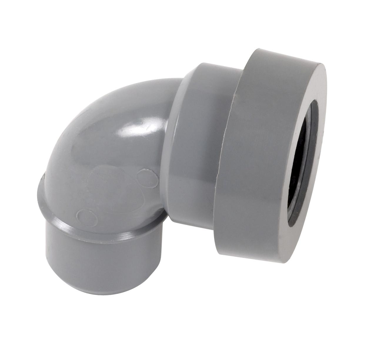 COUDE PVC A JOINT MF PVC A 87°30 POUR SORTIE D'APPAREIL SANITAIRE Nicoll