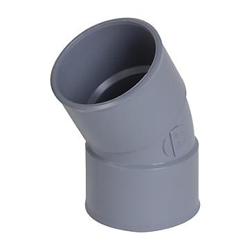 Coude PVC simple FF PVC à 30° Nicoll
